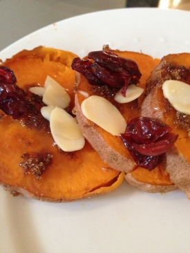 Cranberry Almond Sweet Potatoes