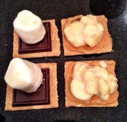 Peanut Butter Banana S'Mores