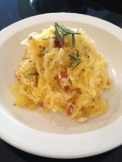 Roasted Spaghetti Squash with Herbs and Almonds