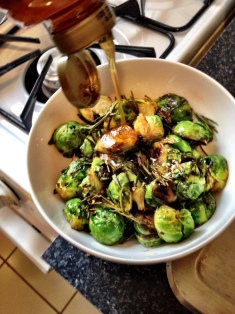 Honey Glazed Brussel Sprouts
