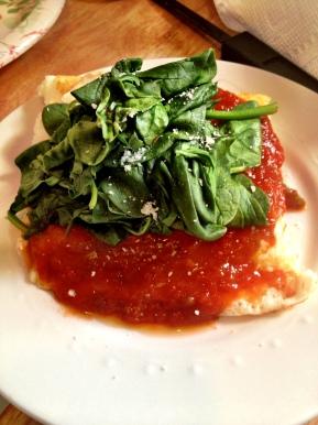 Spinach Frittata Parmesan