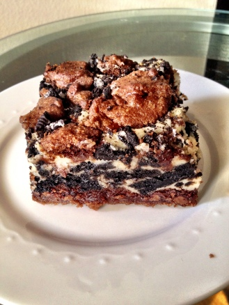 Double Chocolate Chip Oreo Cheesecake Bars