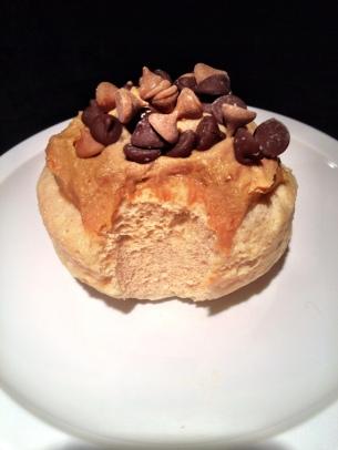 Vanilla Protein Peanut Butter Mug Cake