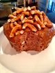 Chocolate Almond Pretzel Mug Cake
