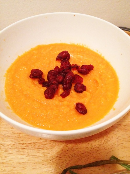 Roasted Carrot & Butternut Squash Soup