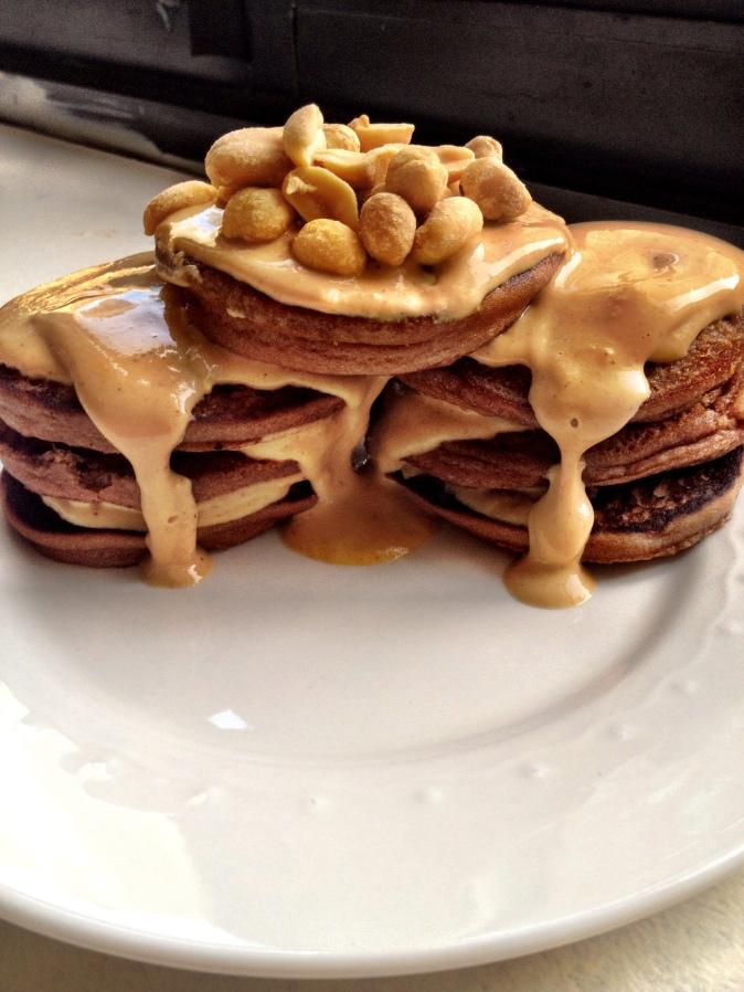 Chocolate Peanut Butter Pancakes
