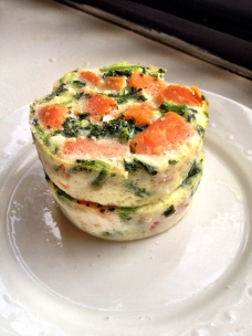 Sweet Potato Broccoli Rabe Baked Eggs