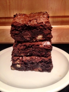 Fudgy Girl Scout Cookie Brownies
