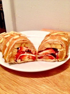 Strawberry Banana Breakfast Wrap