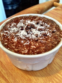 Dark Chocolate Coconut Chia Pudding