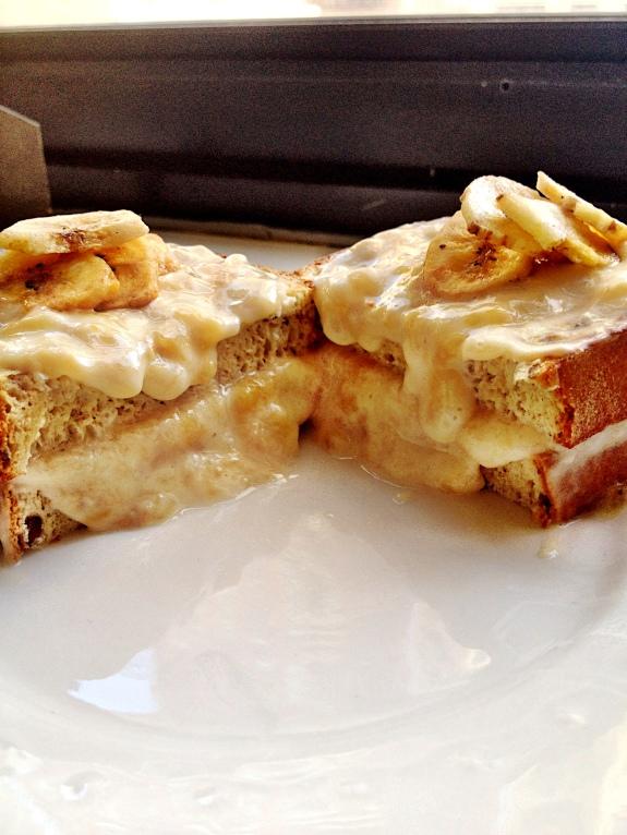 Banana Cream Pie Stuffed French Toast