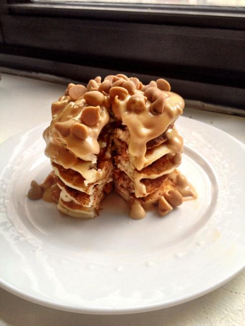 Peanut Butter Chip Pancakes
