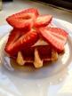 Belgian Waffle with Cinnamon Yogurt