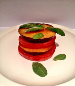 Tomato & Plum Tower