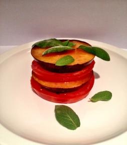 Tomato & Plum Tower