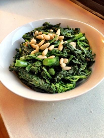 Garlic Broccoli Rabe with Pine Nuts